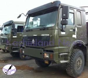 Burmese military trucks