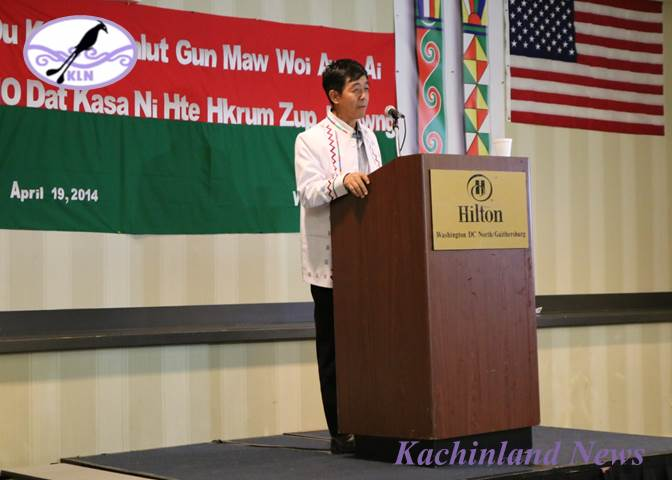 General Gun Maw at a Kachin Community Meeting at Gaithersburg, MD