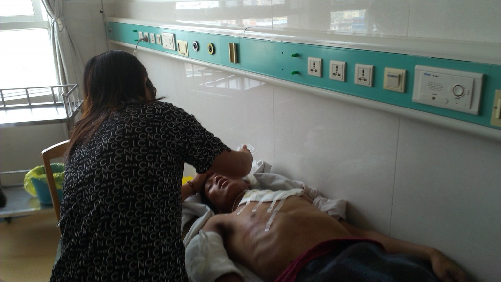 Brang Maw, 25-year-old man, was hit by mortar fire (Photo Credit: Wunpawng Ninghtoi)