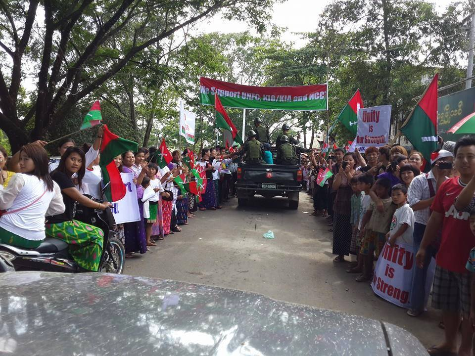 KIO delegates welcomed by local residents (Photo: Salai Lian Thang Ngan)
