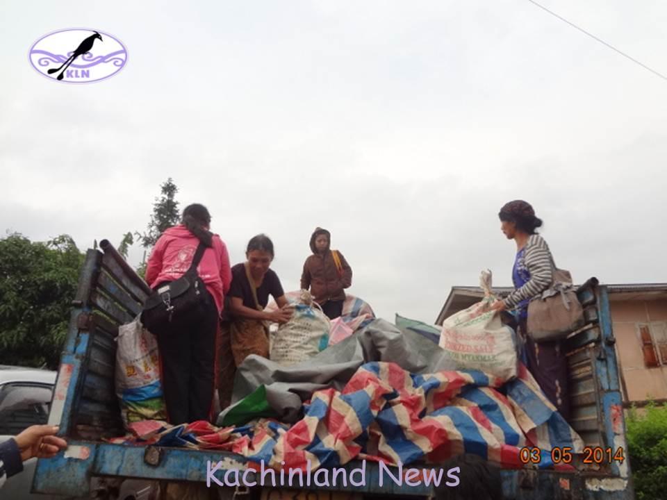 IDPs from Mungpaw area arrive Muse Kachin Baptist Church compound