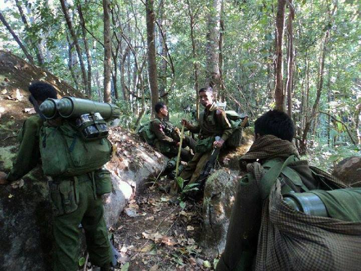 Burmese Army Soldiers on the frontline (Photo: Kachin Soldiers)