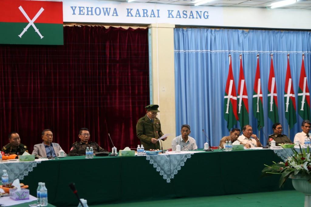KIO Chairman Zawng Hra welcoming ethnics leaders